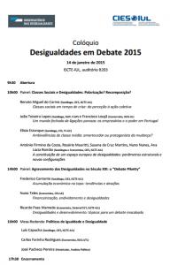 Desigualdades em debate